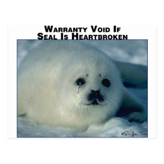 Warranty on Seal Postcard