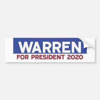 Warren for President 2020 Bumper Sticker