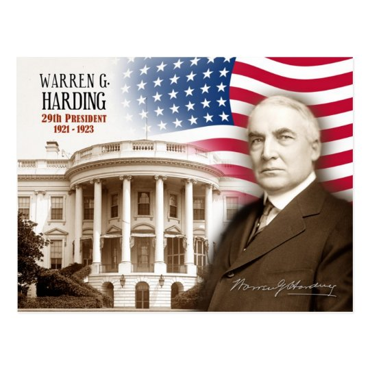 Warren G. Harding -  29th President of the U.S. Postcard