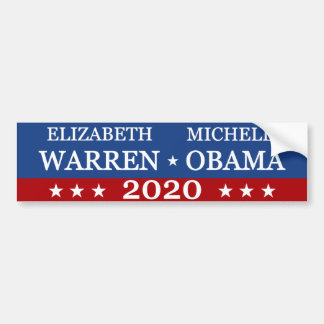 Warren Obama 2020 Bumper Sticker