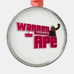 Warren the ape Logo Christmas Tree Ornaments