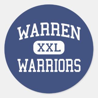 Warren - Warriors - High School - Vincent Ohio Round Sticker