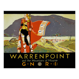 Warrenpint and the Mountians of Mourne Poster