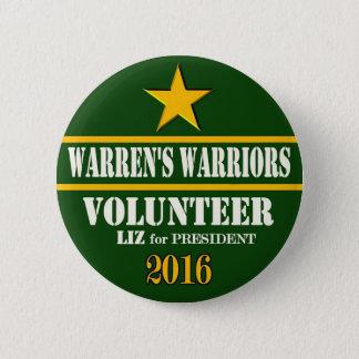 Warren's Warriors: Elizabeth Warren for President 2 Inch Round Button