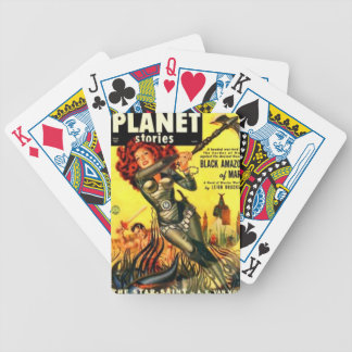 Warrier Maiden on Mars Bicycle Playing Cards