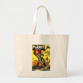 Warrier Maiden on Mars Large Tote Bag