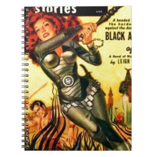 Warrier Maiden on Mars Spiral Notebook