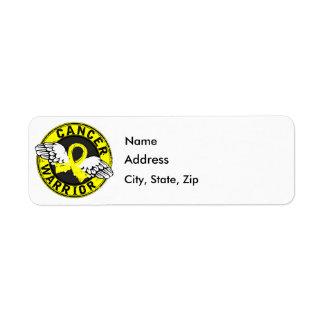 Warrior 14C Bladder Cancer Return Address Label