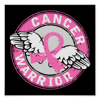 Warrior 14C Breast Cancer Poster