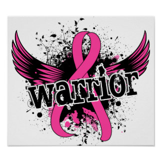 Warrior 16 Breast Cancer Poster
