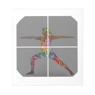 Warrior 2 Yoga Pose Series Notepad