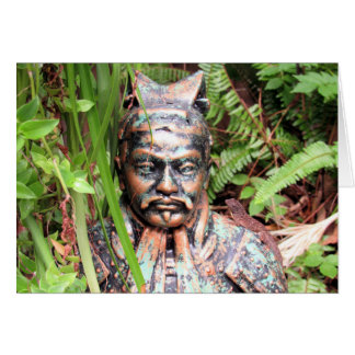 Warrior and Anole Greeting Card