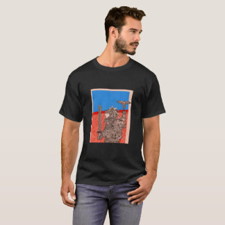 warrior and dove drawing T-Shirt