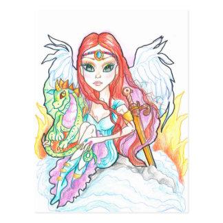 Warrior Angel Fantasy Art Postcard