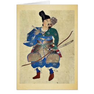 Warrior archer Ukiyo-e. Card