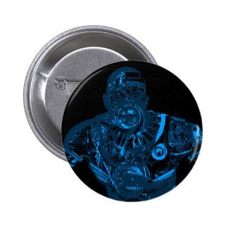 Warrior - Blue 2 Inch Round Button