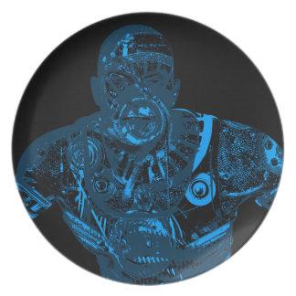 Warrior - Blue Dinner Plate