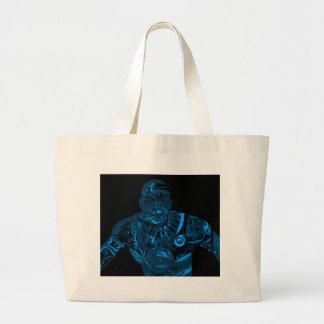 Warrior - Blue Large Tote Bag
