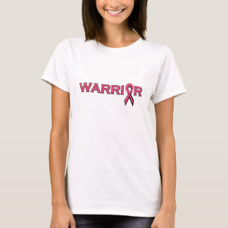 Warrior Breast Cancer Pink Ribbon Tshirt Grunge