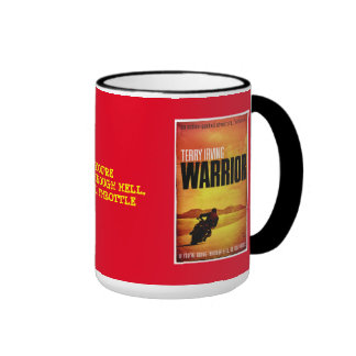 WARRIOR BY TERRY IRVING RINGER COFFEE MUG