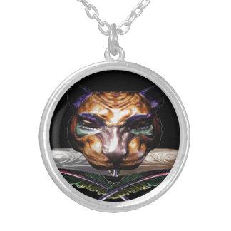Warrior cat- feline wild cat custom necklace