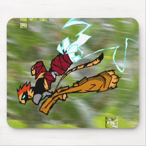 WARRIOR CAT IN THE WILD MOUSE PADS