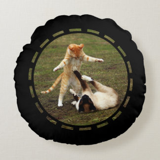 Warrior Cats Custom Background Round Pillow