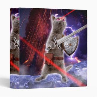 warrior cats - knight cat - cat laser 3 ring binder