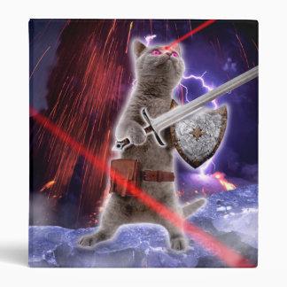 warrior cats - knight cat - cat laser 3 ring binders