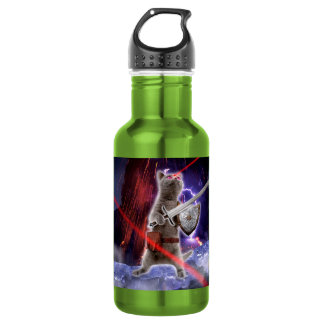 warrior cats - knight cat - cat laser 532 ml water bottle