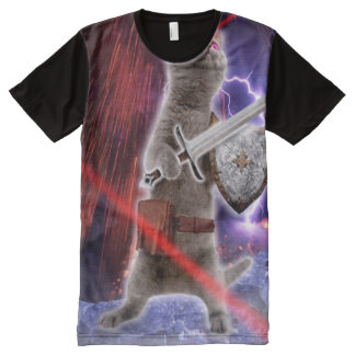warrior cats - knight cat - cat laser All-Over-Print T-Shirt
