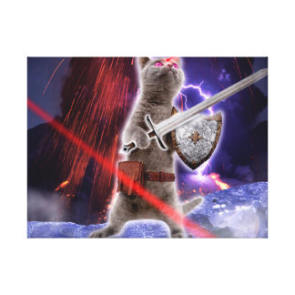 warrior cats - knight cat - cat laser canvas print