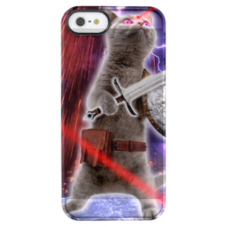 warrior cats - knight cat - cat laser clear iPhone SE/5/5s case