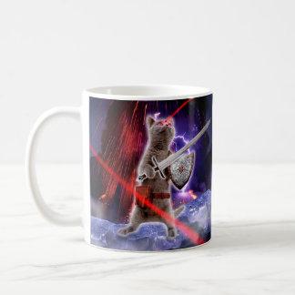 warrior cats - knight cat - cat laser coffee mug