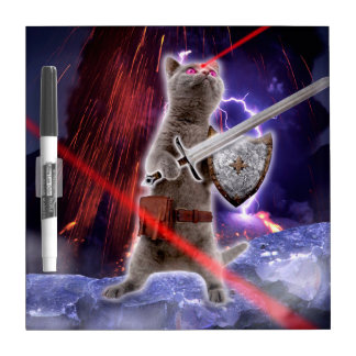 warrior cats - knight cat - cat laser dry erase board
