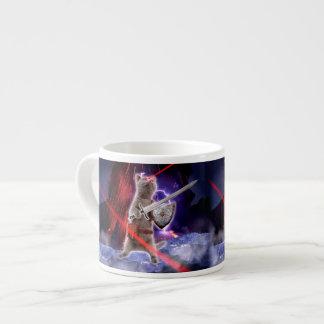 warrior cats - knight cat - cat laser espresso cup