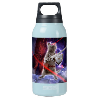 warrior cats - knight cat - cat laser insulated water bottle