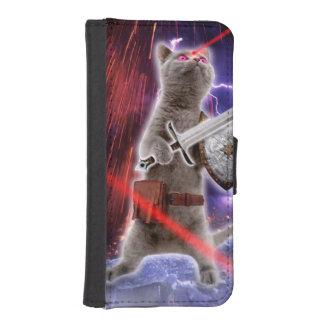warrior cats - knight cat - cat laser iPhone SE/5/5s wallet case