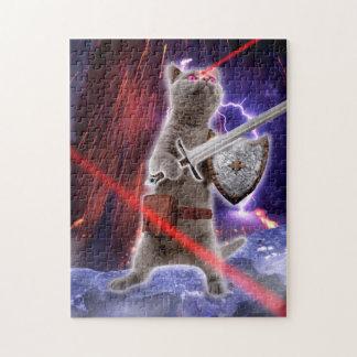 warrior cats - knight cat - cat laser jigsaw puzzle