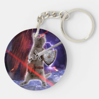 warrior cats - knight cat - cat laser keychain