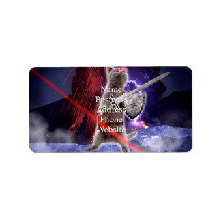 warrior cats - knight cat - cat laser label