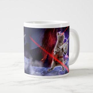warrior cats - knight cat - cat laser large coffee mug