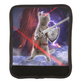 warrior cats - knight cat - cat laser luggage handle wrap