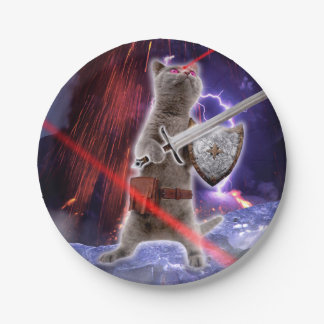 warrior cats - knight cat - cat laser paper plate