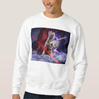 warrior cats - knight cat - cat laser sweatshirt
