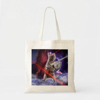 warrior cats - knight cat - cat laser tote bag