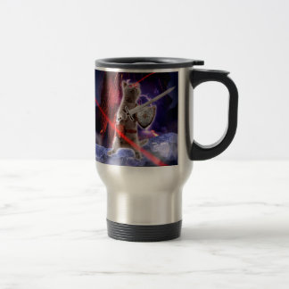 warrior cats - knight cat - cat laser travel mug