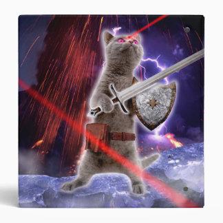 warrior cats - knight cat - cat laser vinyl binders