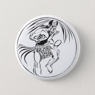 Warrior dancing black - Amazing Mexico Button