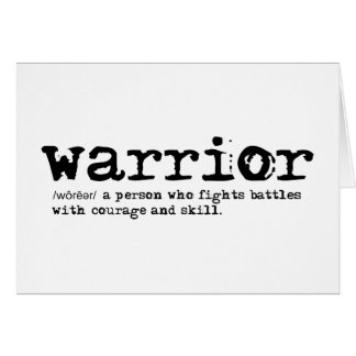 Warrior Definition Greeting Card